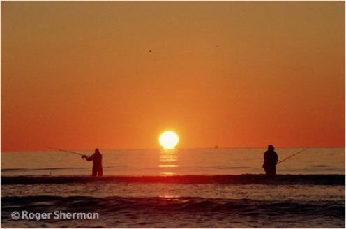 Breezy Point fishermen at sunrise
